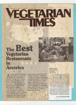 Vegetarian Times Magazine, 1987