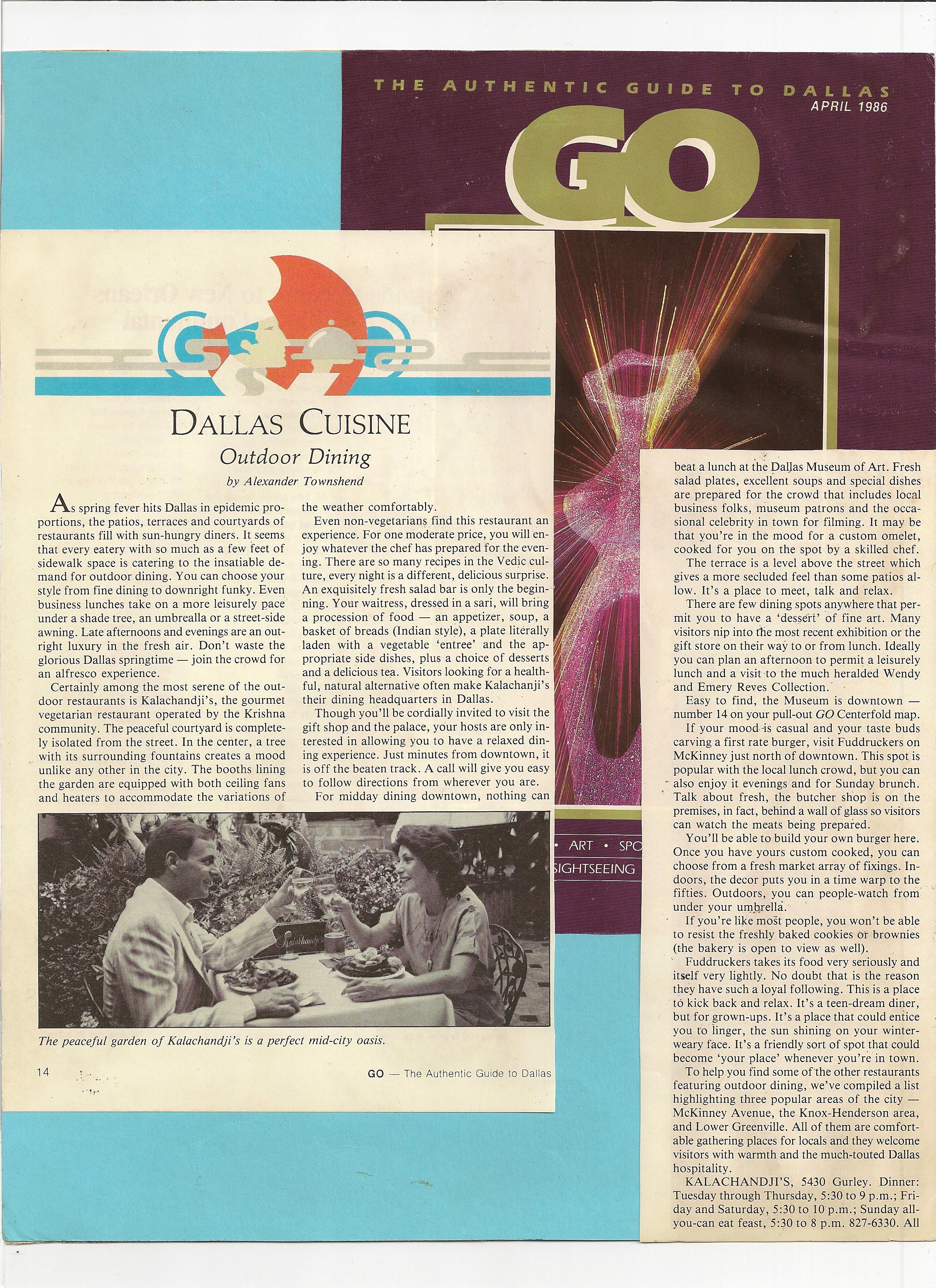 Go Magazine, 1986