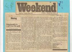 Dallas Times Herald, 1983