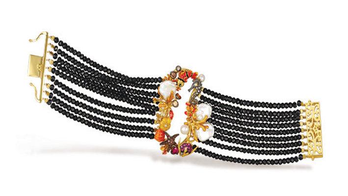 Italian Sea Life Bracelet Black