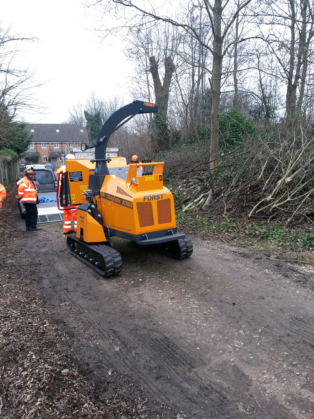 Forst XR8 Traxion Embankment Woodchipper used by Cleshar