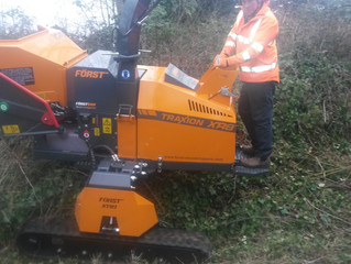 Cleshar Demonstrates New Forst Woodchipper