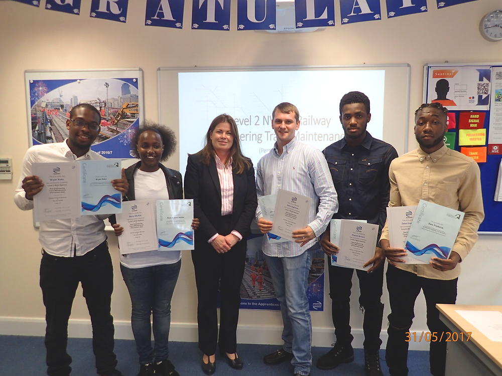 Tricia O'Neill (CEO) with the apprentices