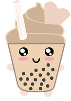 sofi the soft serve with boba and wafer-