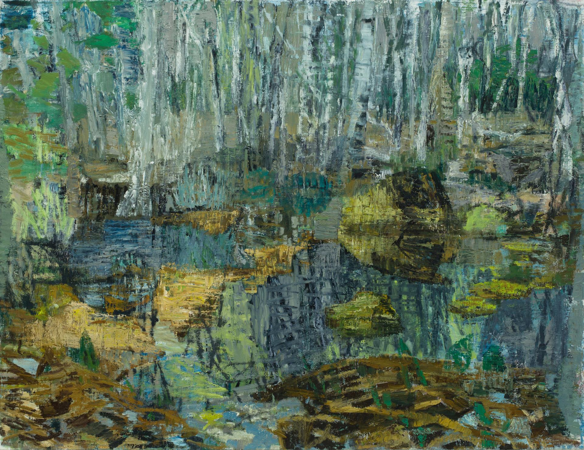 'Water Meadow II' 2019  oil on linen 130 x 170cm