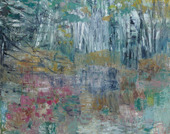 Into the Woods I 2018  oil on linen  100 x 126cm