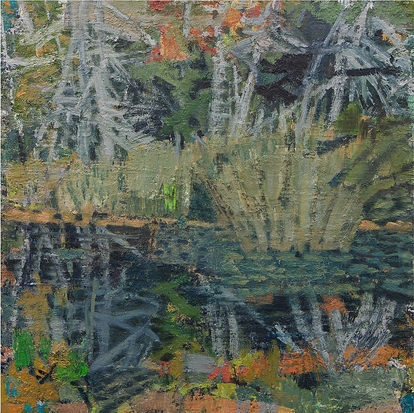 'Little round pond I' 2021 oil on birch