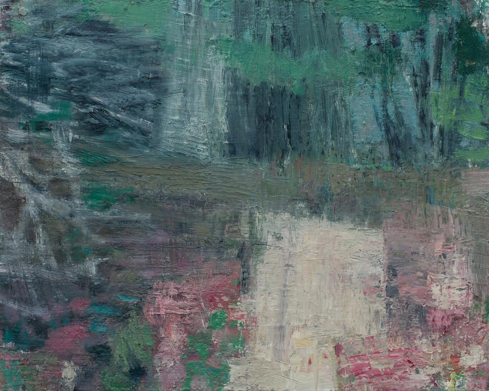 Blueberry path 2019 oil on birch board 40 x 50cm