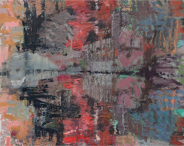 'Somes Pond' 2021 oil on birch board 41