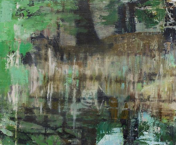 Marsh - Little long pond 2020 oil on bir