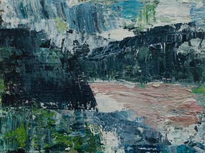 'Island IV' 2019 oil on birch board  23 x 30.5cm