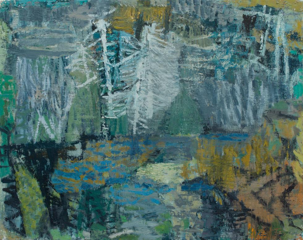 'Granite Country' 2019  oil on linen 100 x 126cm