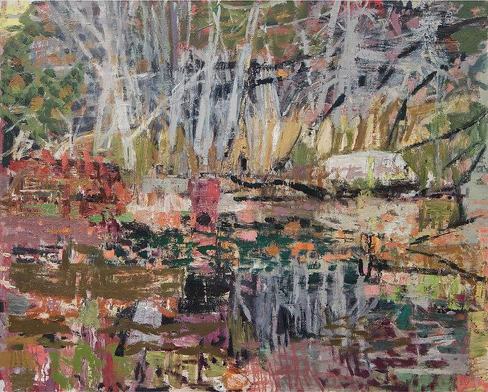 'Tangle Pond I' 2021 oil on linen 100 x