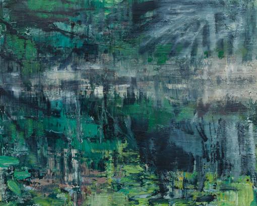Witch Hole - Study 2019  oil on birch board  40 x 50cm