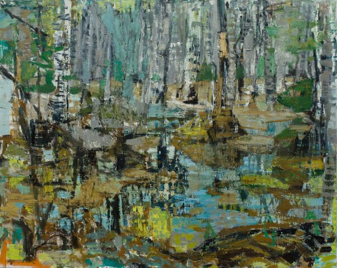 'Water meadow I' 2019 oil on linen  100 x 126cm