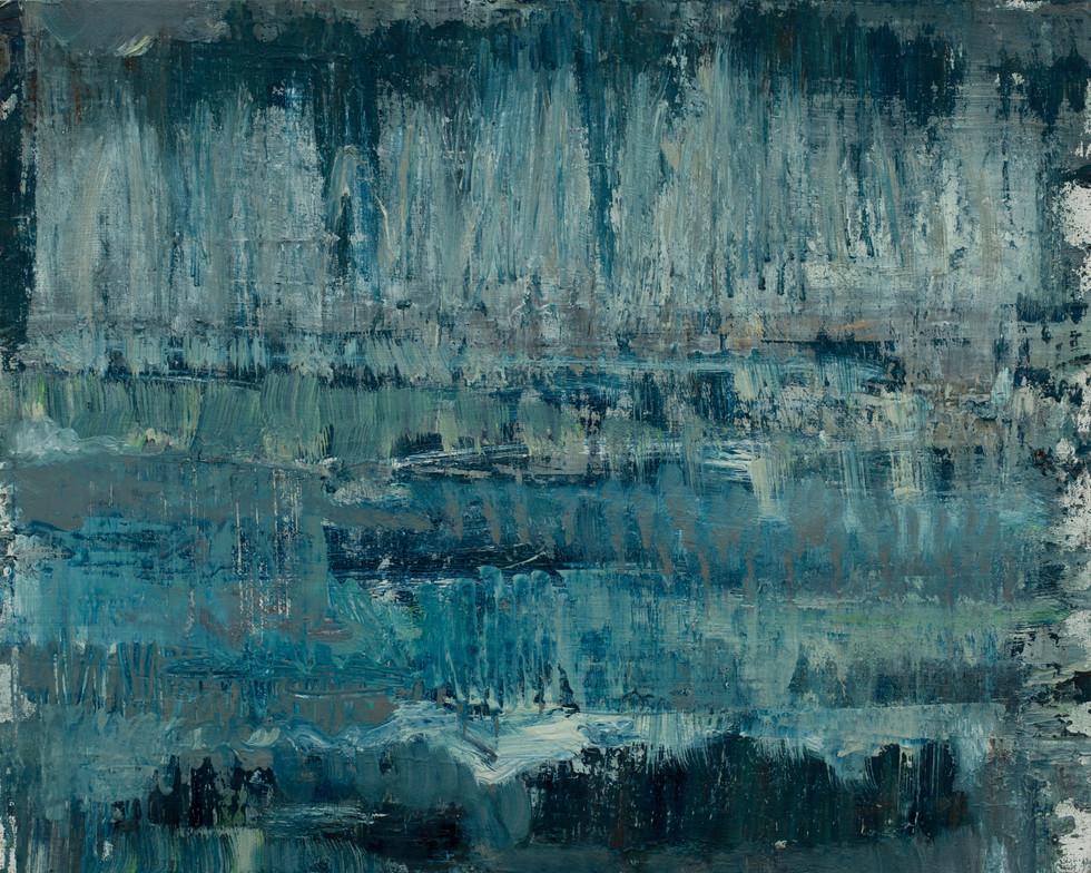 Birches - Witch Hole 2019 oil on birch 40 x 50cm