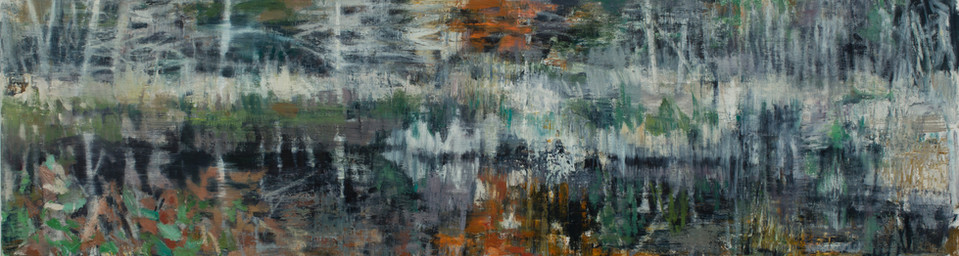 Marsh Song I 2019  oil on linen  65 x 240cm