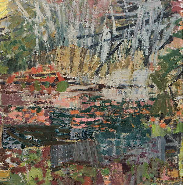 'Little round pond II' 2021 oil on birch