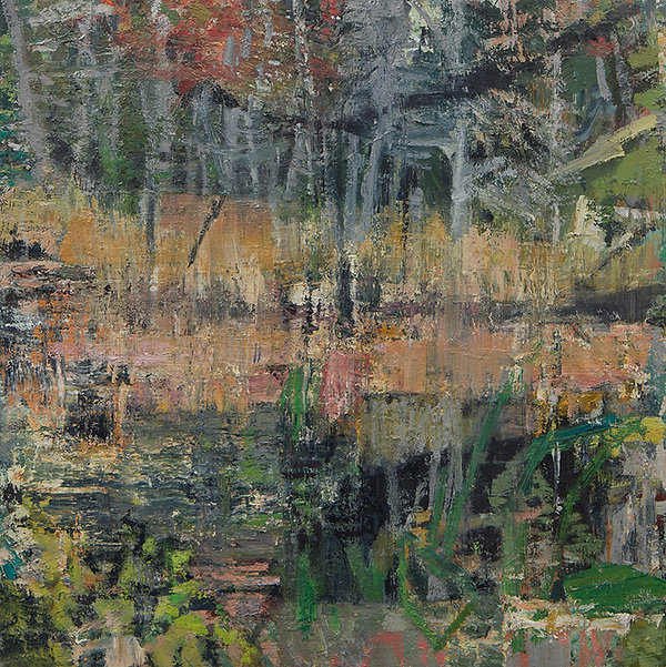 'Little round pond III' 2021 oil on birc