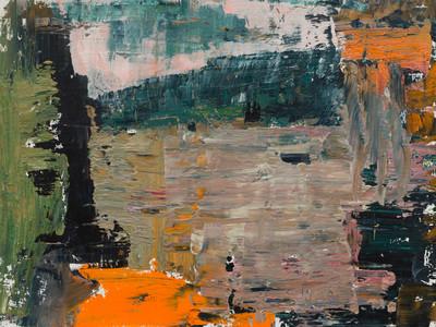 'Island I' 2019 oil on birch board 23 x 30.5cm