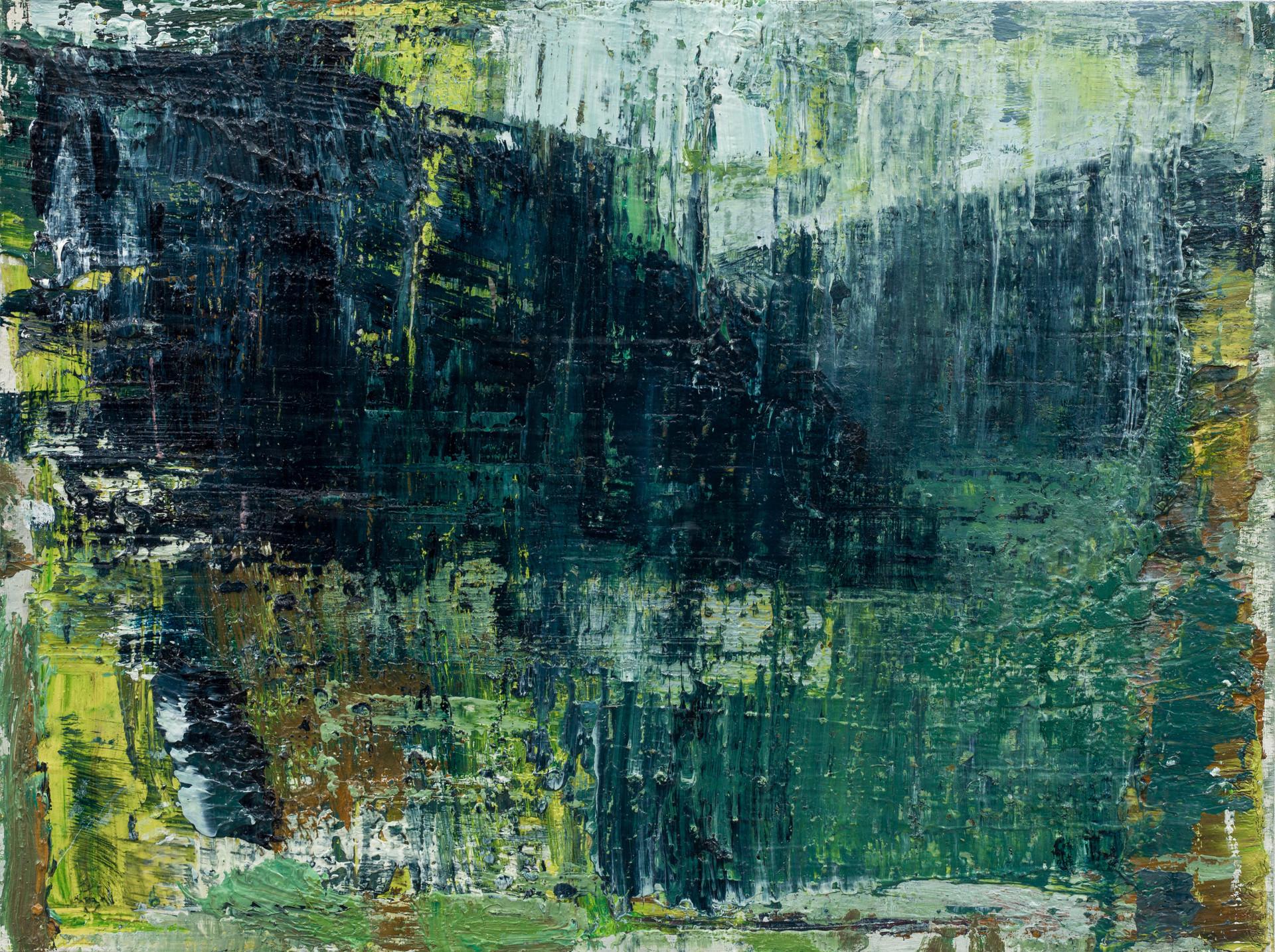 'Island II' 2019 oil on birch board 23 x 30.5cm