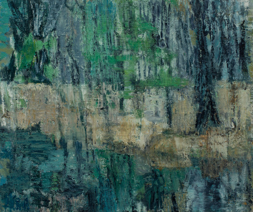 Forest pool II 2019 oil on birch board 50 x 60cm