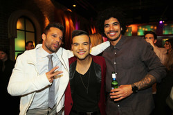 With Ricky Martin and Johnny Rollins