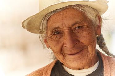 Señora en algún pueblito en Junín, Perú.
