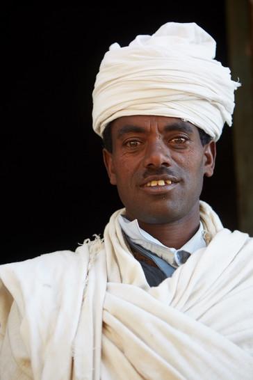 Monje. Lalibela. Etiopía.
