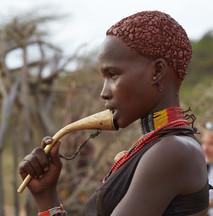 De la tribu de los hamar. Valle del Omo. Etiopía