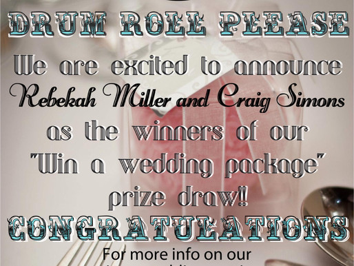 CONGRATULATIONS to our wedding winners!