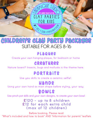 Clay party packages