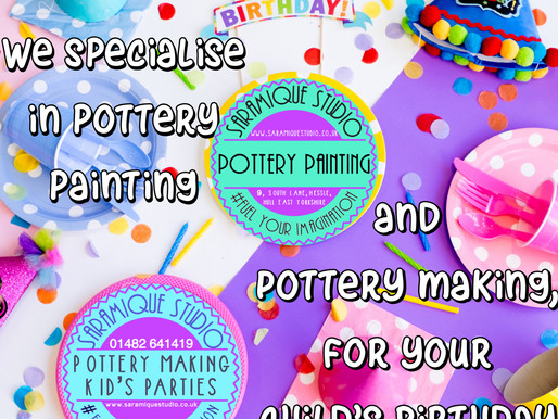 Potterymakingparties- new kids packages!