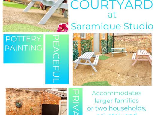 The Courtyard at Saramique Studio