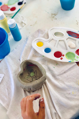Heart bowl - the painting stage