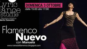 Stage di Flamenco Nuevo con Manuela. Appuntamento domenica 3 ottobre dalle 15 alle 17