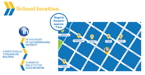 Mapa da escola- International House Bogotá