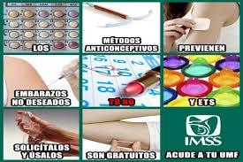 El IMSS ofrece métodos anticonceptivos a todo interesado de manera gratuita.