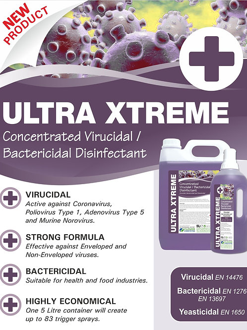 ULTRA XTREME FOGGING DISINFECTANT - 5LTR CONCENTRATE