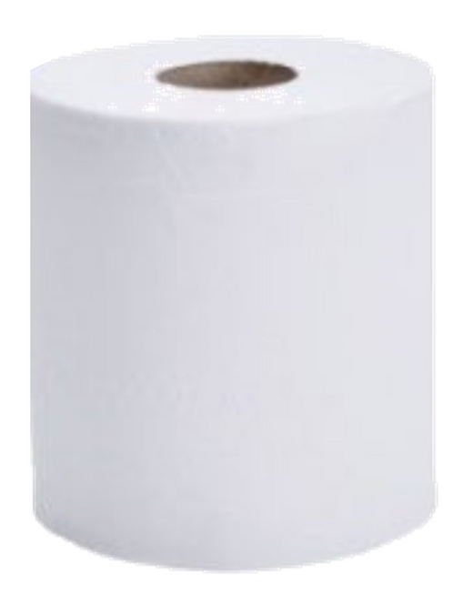 White Centre-feed Wiping Rolls