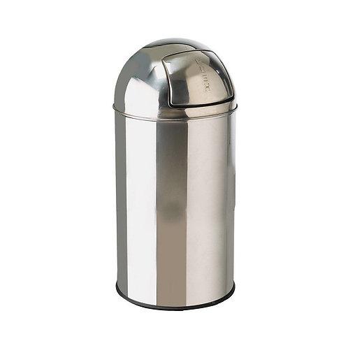 Stainless Steel Bullet Push Bin 40 Ltr