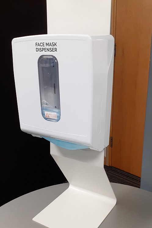 Counter-Top Stand with Face Mask Dispenser Pod