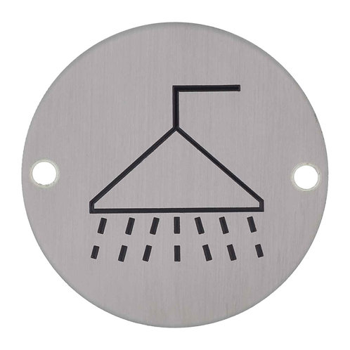 Stainless Steel Sign - Shower