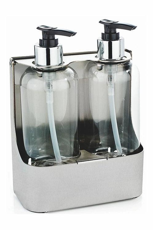 Lockable Double Soap Bottle Holder