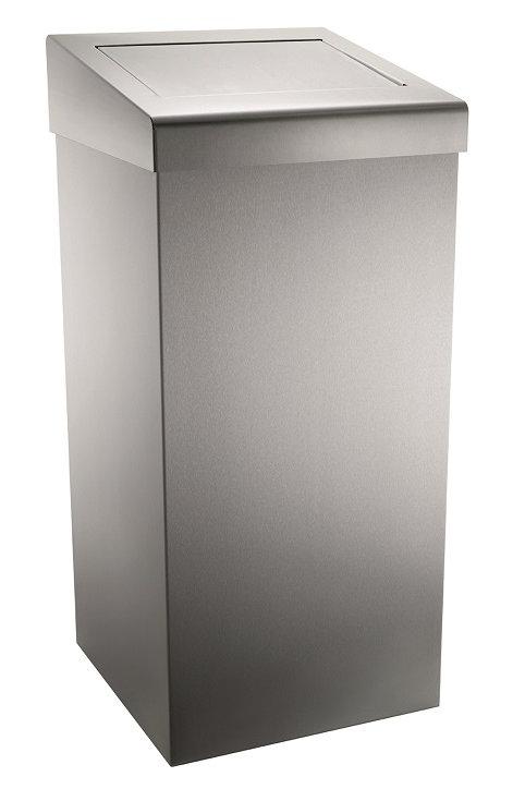 Stainless Steel Flap-lid Waste Bin 50 Ltr