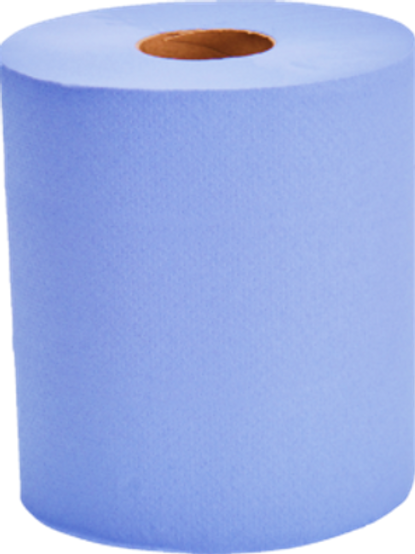 Blue Centre-feed Wiping Rolls