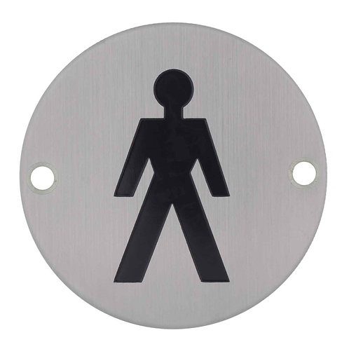 Stainless Steel Sign- Gents