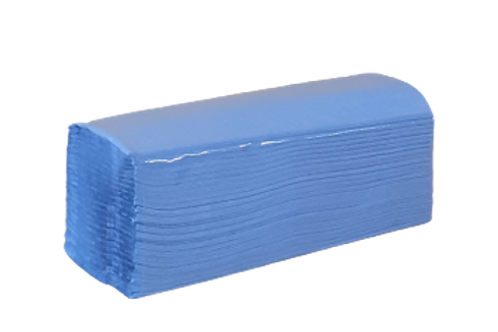 Z-Fold Blue Paper Hand Towels