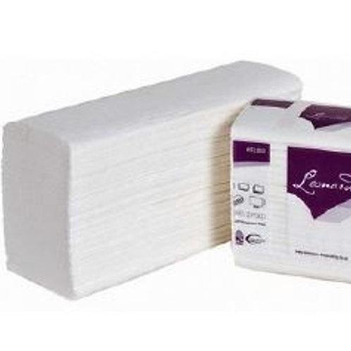 LEONARDO Z-Fold White Paper Hand Towels