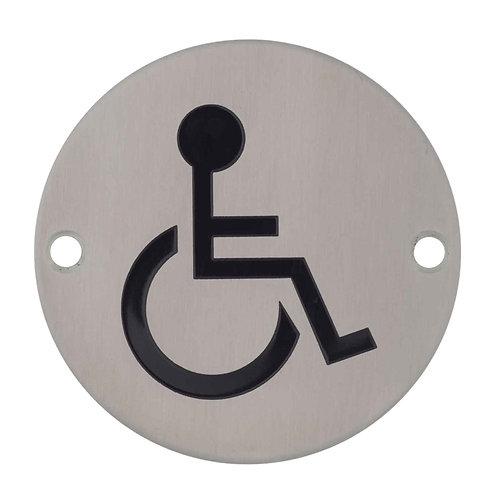 Stainless Steel Sign - Disabled